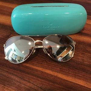 Rose gold Kate Spade sunglasses